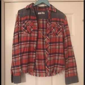 Anthropologie Artisan De Luxe Plaid Button Down